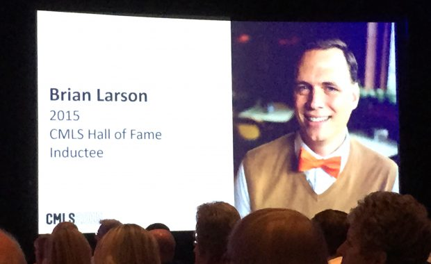 Brian inducted into CMLS Hall of Fame